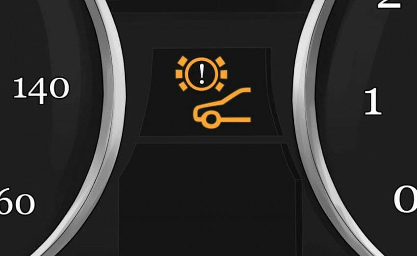 إضاءة لمبة-الفرامل-في-طبلون-السيارة